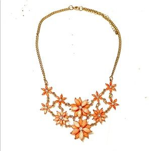 Pink Gold Statement Bib Necklace
